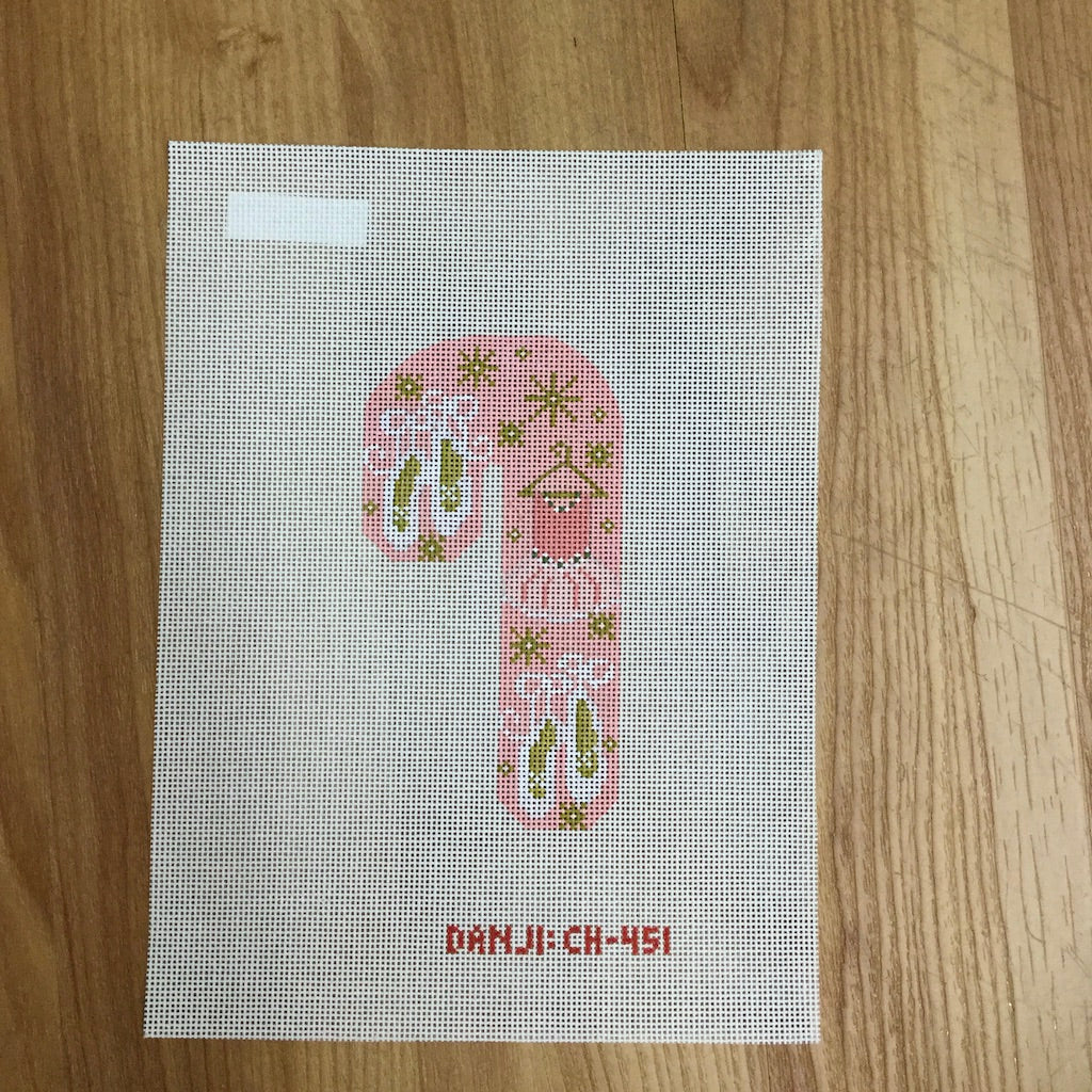 Ballerina Candy Cane Canvas