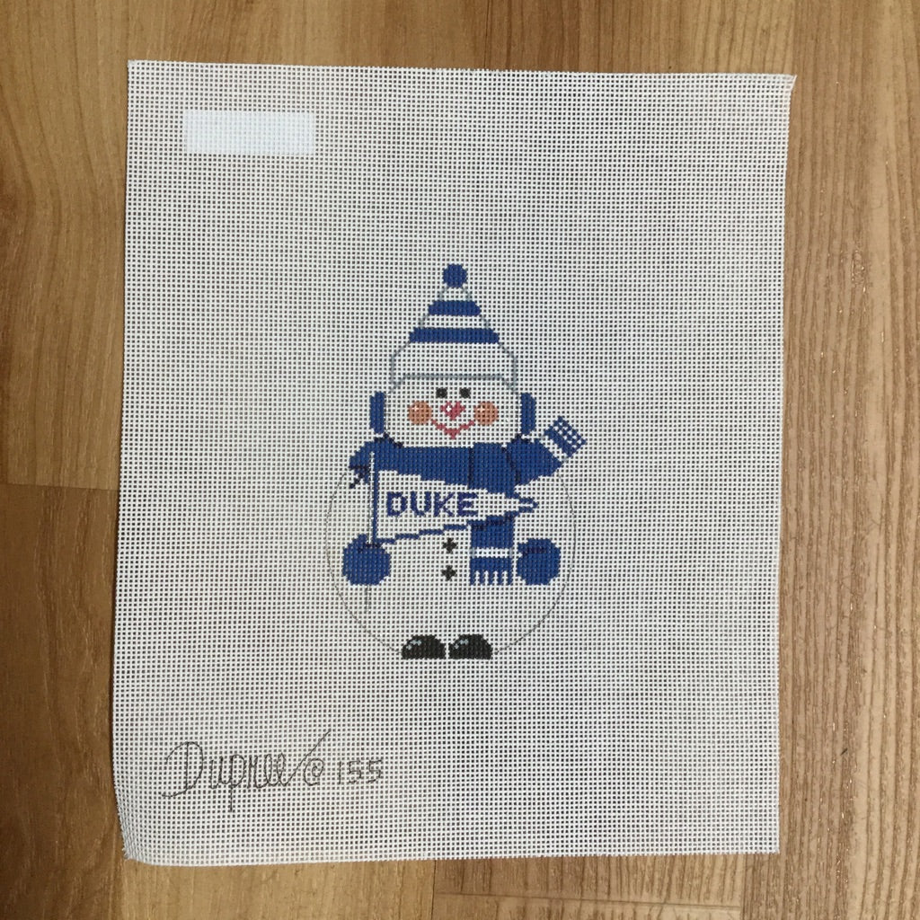 Duke Snowman Canvas-Needlepoint Canvas-Carol Dupree-KC Needlepoint