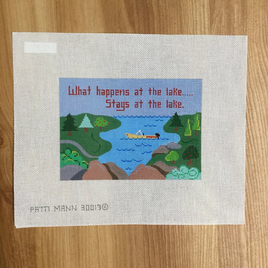What Happens at the Lake... Canvas - needlepoint