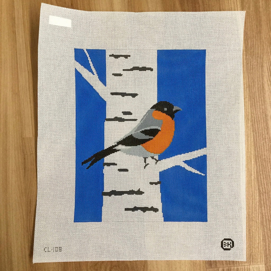 Bullfinch Needlepoint Canvas - KC Needlepoint