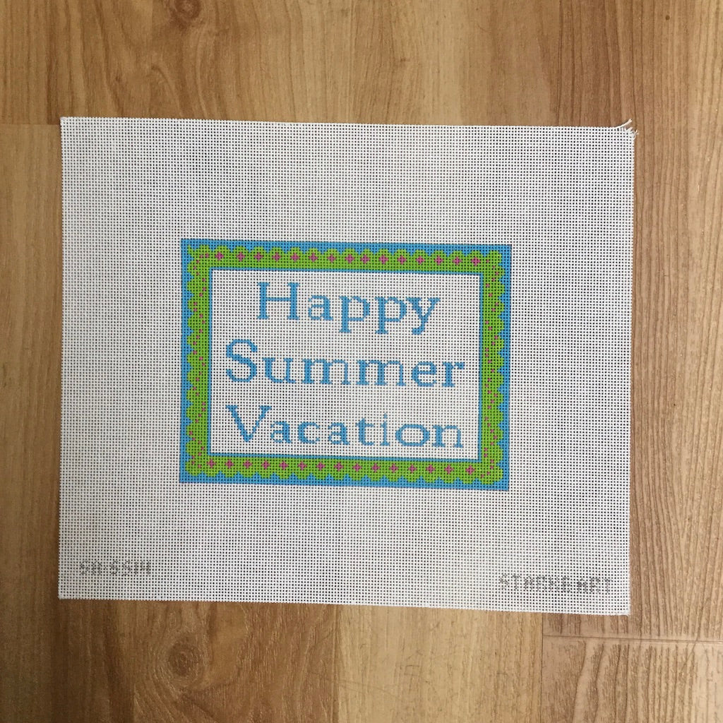 Happy Summer Vacation Canvas-Needlepoint Canvas-CBK Needlepoint-KC Needlepoint