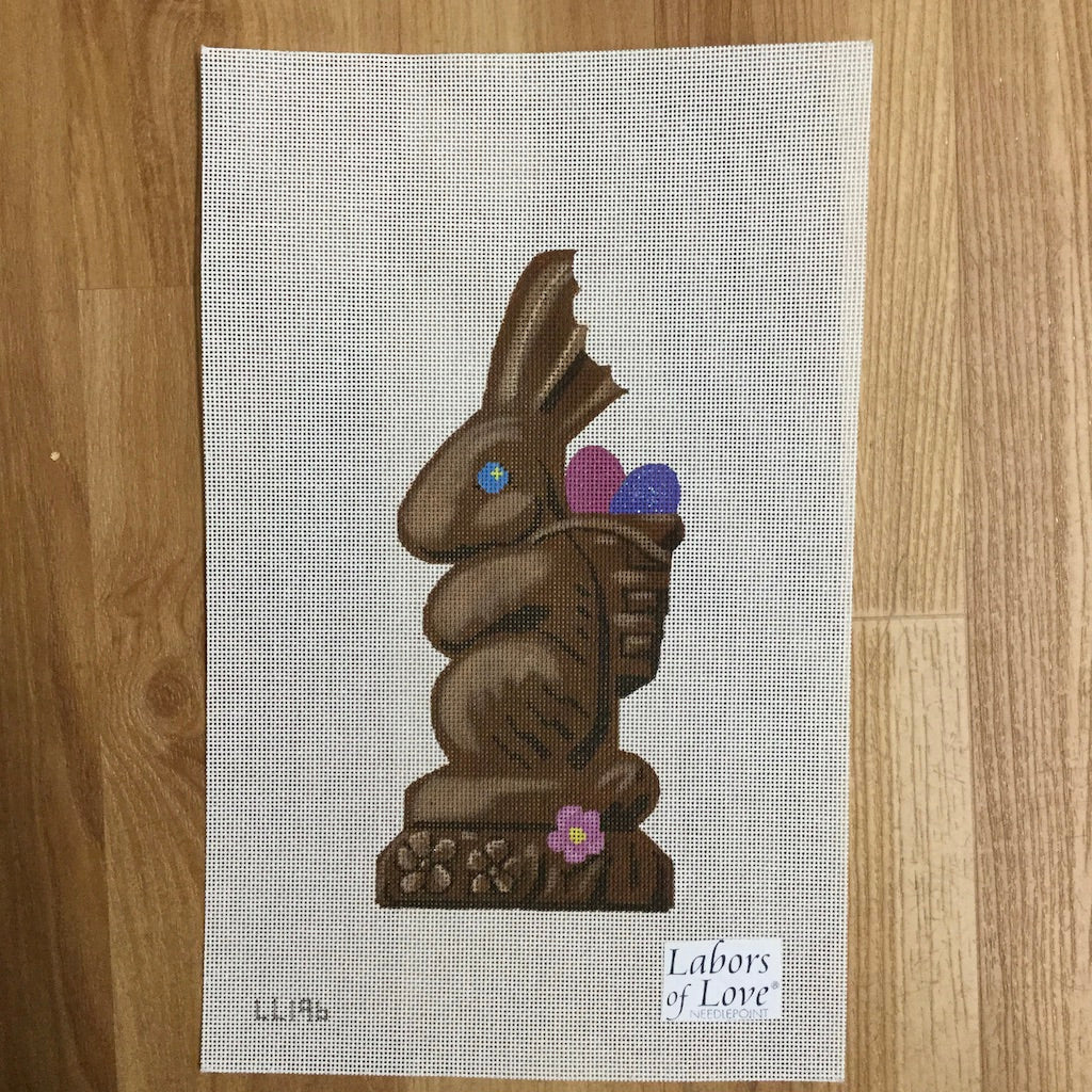 Chocolate Bunny Canvas-Labors of Love-KC Needlepoint