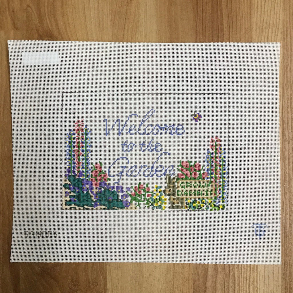 Welcome to the Garden Canvas-Needlepoint Canvas-Tina Griffin Designs-KC Needlepoint
