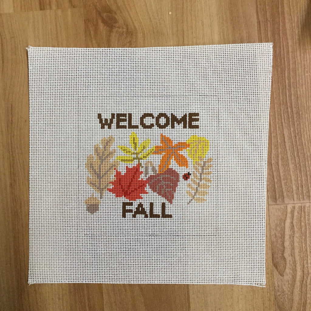 Welcome Fall Canvas - needlepoint