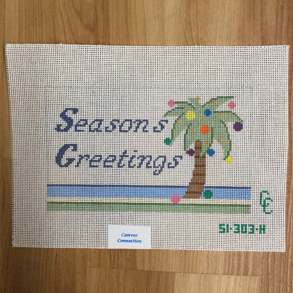 Seasons Greetings Canvas - needlepoint