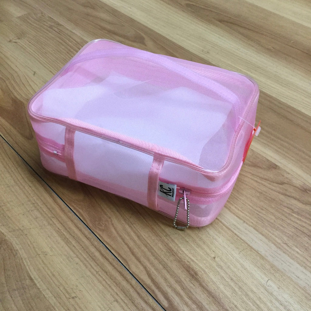 Walker Train Train Case-Accessories-Walker-Pink-KC Needlepoint