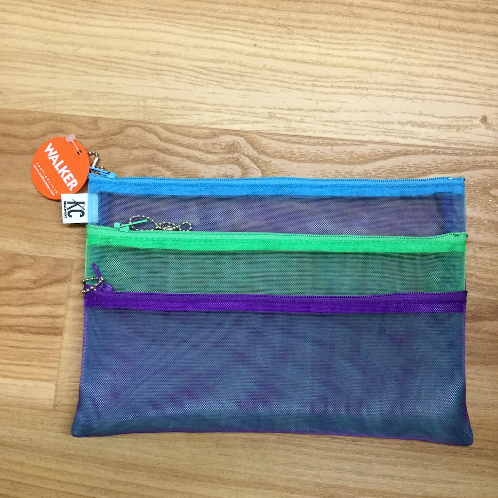 Walker 6X9 Triple Zip Bag-Accessories-Walker-Purple-Mint-Aqua-KC Needlepoint