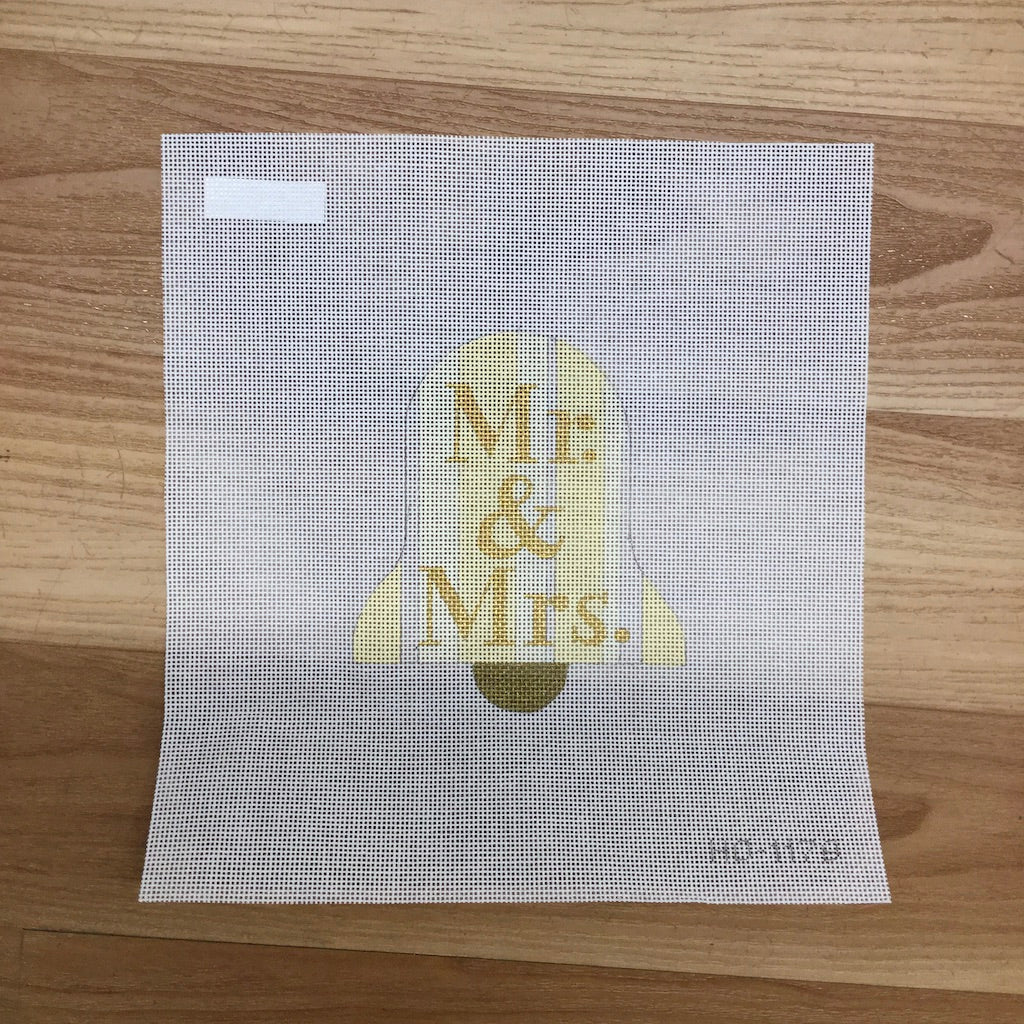Mr. & Mrs. Bell Canvas-Needlepoint Canvas-Raymond Crawford-KC Needlepoint