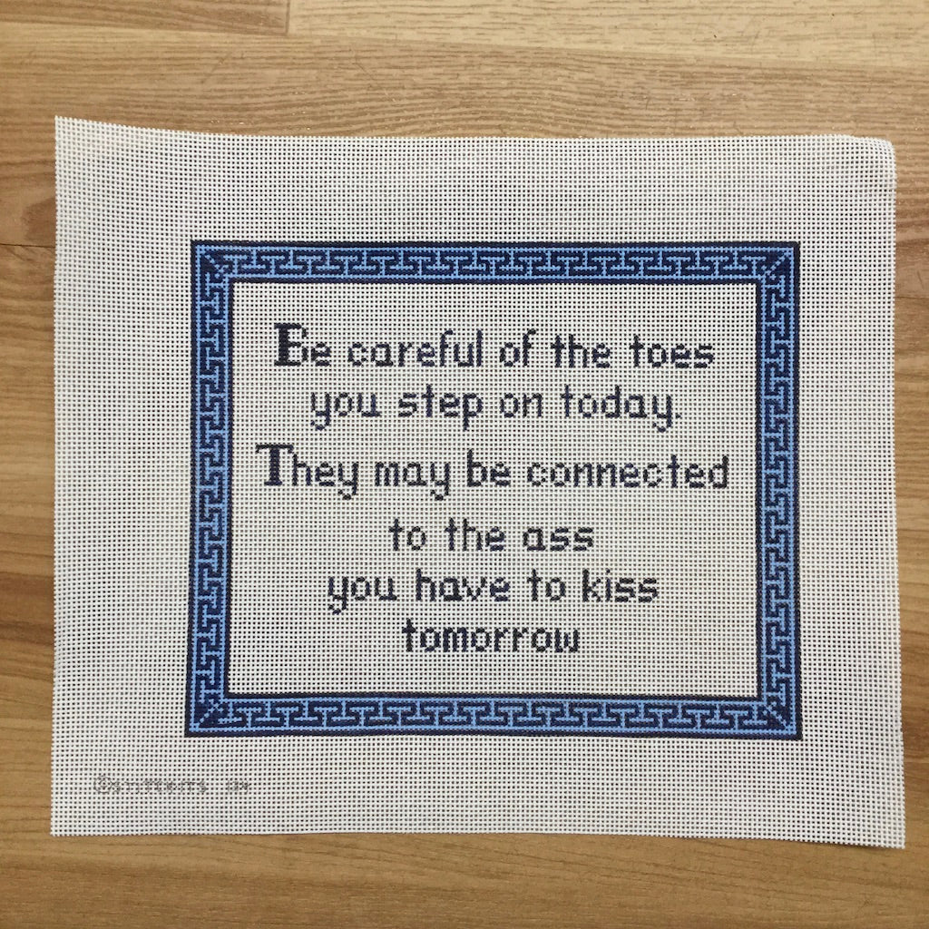 Be Careful of the Toes Canvas - KC Needlepoint