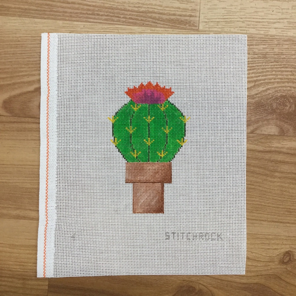 Cactus Ornament Canvas-Needlepoint Canvas-StitchRock Designs-KC Needlepoint