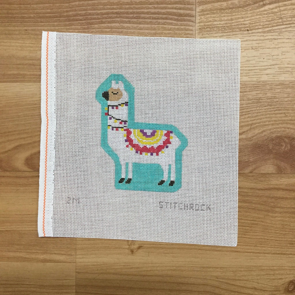Larry the Llama-Needlepoint Canvas-StitchRock Designs-Mint-KC Needlepoint