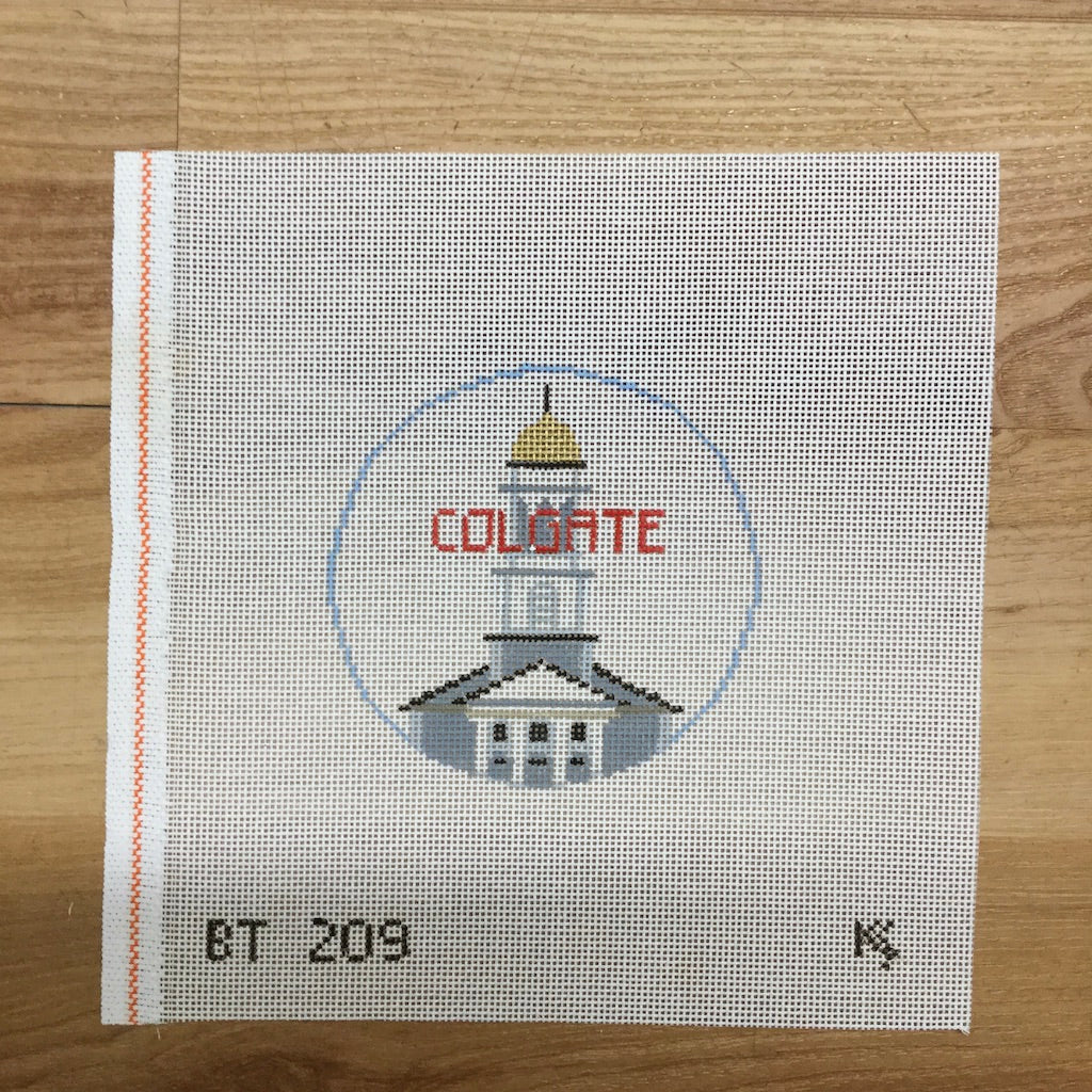 Colgate University Round Canvas-Needlepoint Canvas-Kathy Schenkel-KC Needlepoint