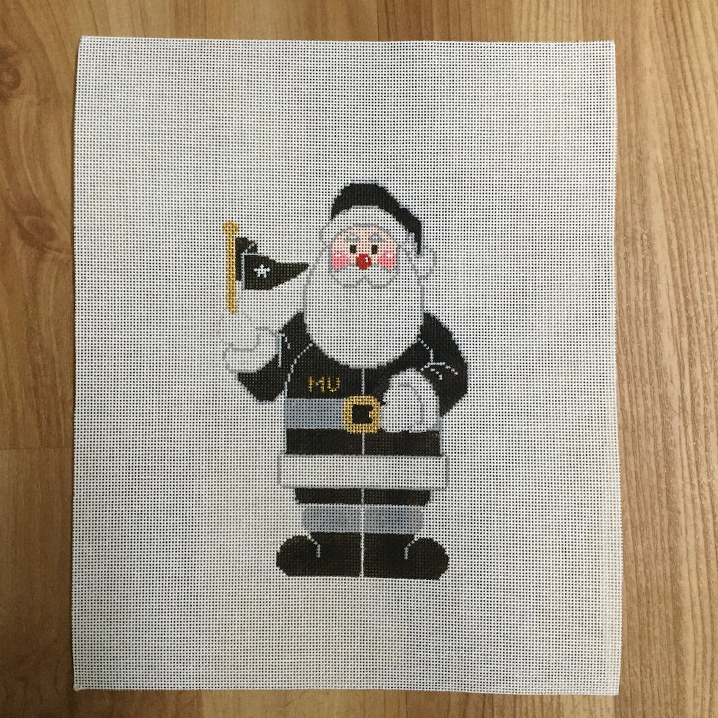 MU Santa Canvas - needlepoint