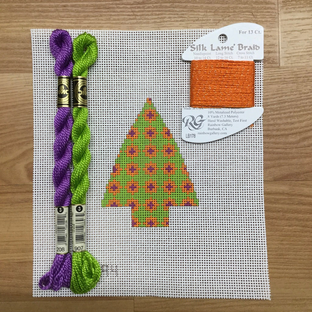 Geometric Tree Needlepoint Kit-Needlepoint Canvas-KCN Designers-KC Needlepoint