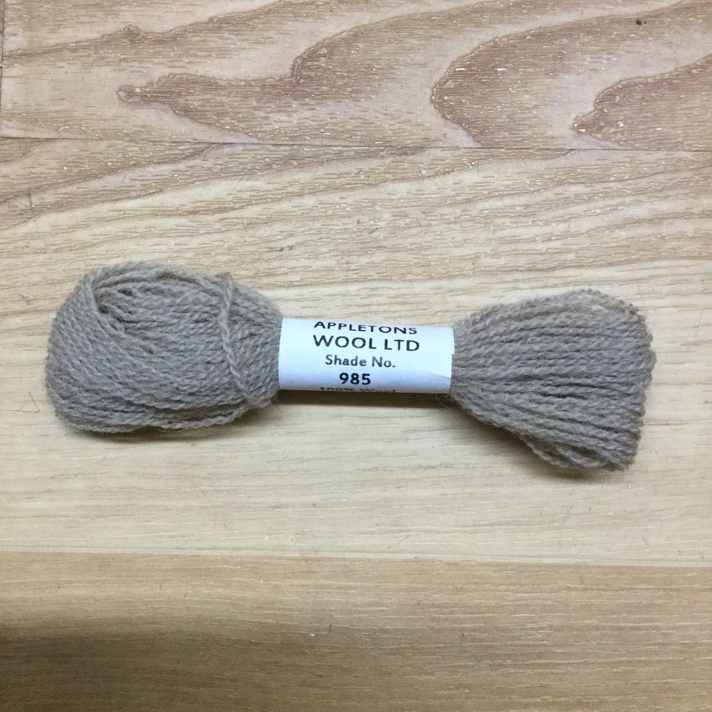 Appleton Crewel Wool 985 Putty-Appleton Crewel Wool-Access Commodities-KC Needlepoint