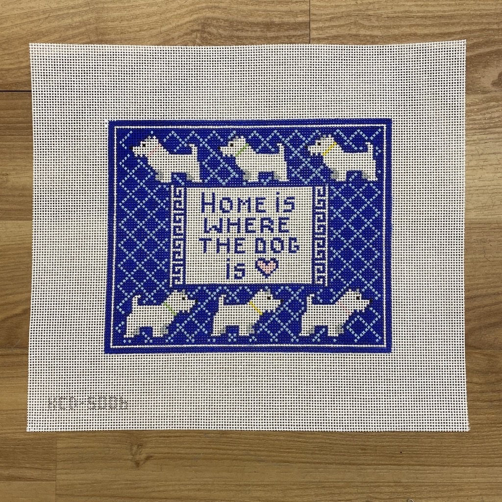 Home is Where the Dog Is (Westie) Canvas