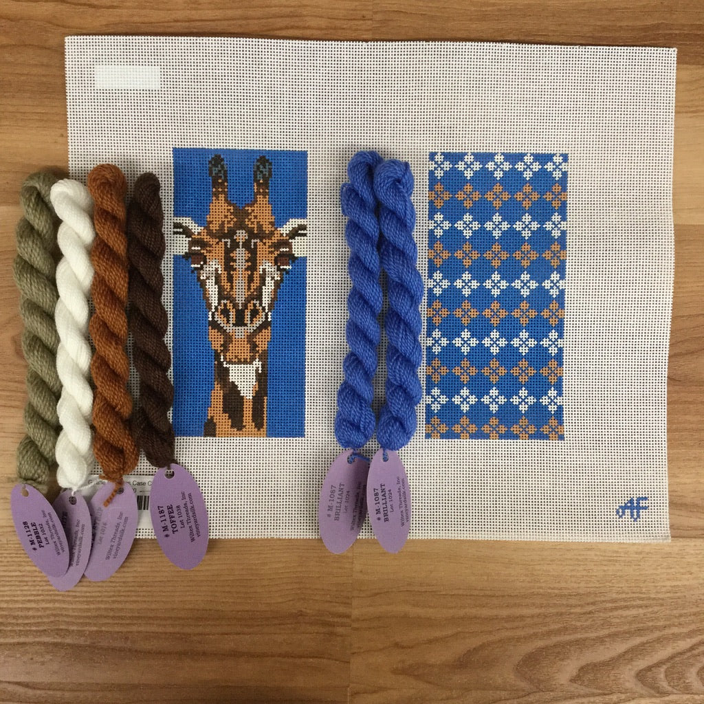 Giraffe Eyeglass Case Kit-Needlepoint Kit-KC Needlepoint