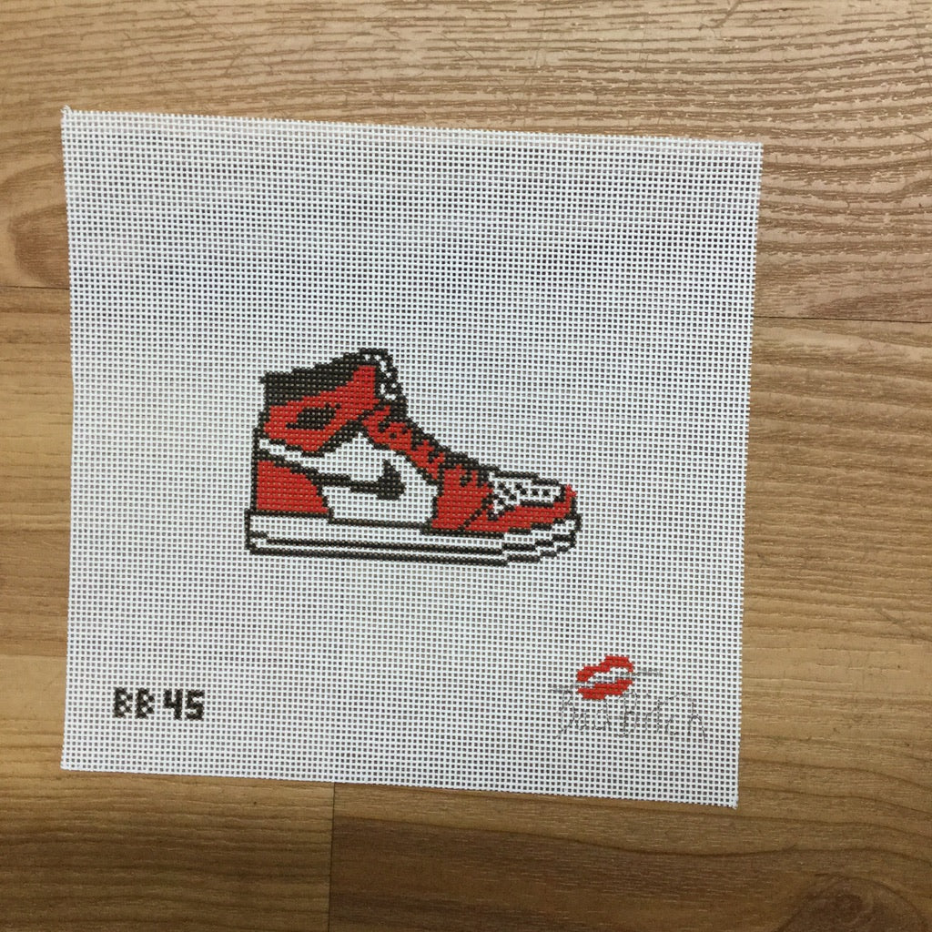 Red Sneaker Canvas - KC Needlepoint
