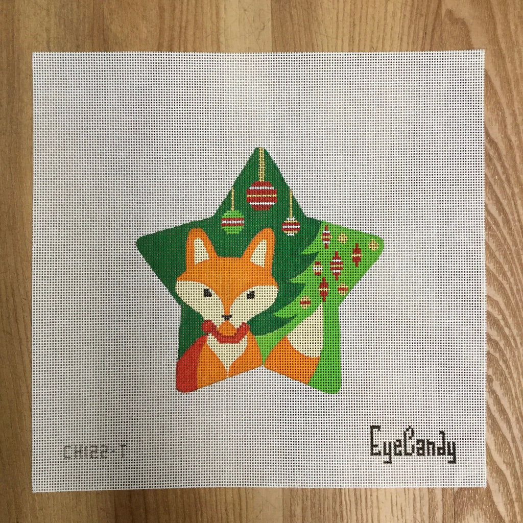 Fox Star Canvas - needlepoint