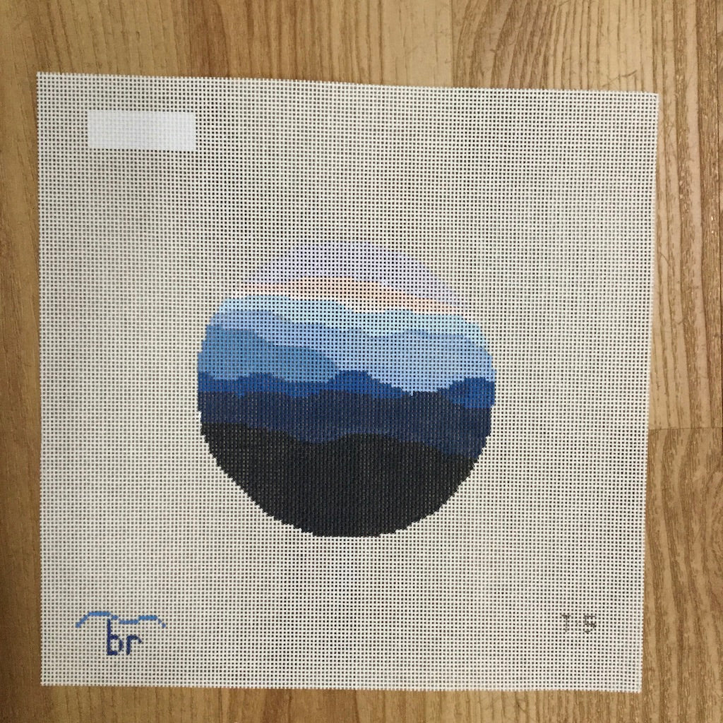 Sunset Ridge Canvas - needlepoint