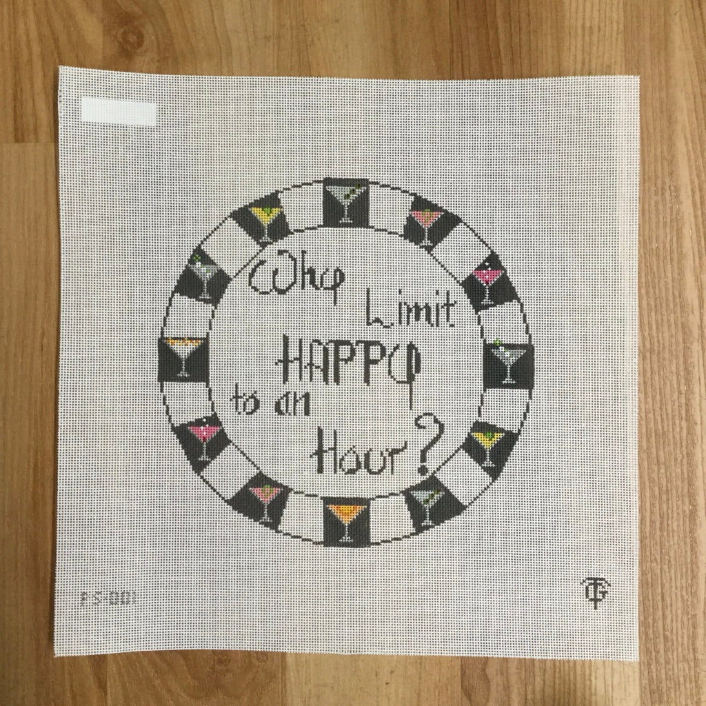 Why Limit Happy to an Hour? Canvas - needlepoint