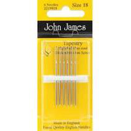 John James #18 Tapestry Needles - needlepoint