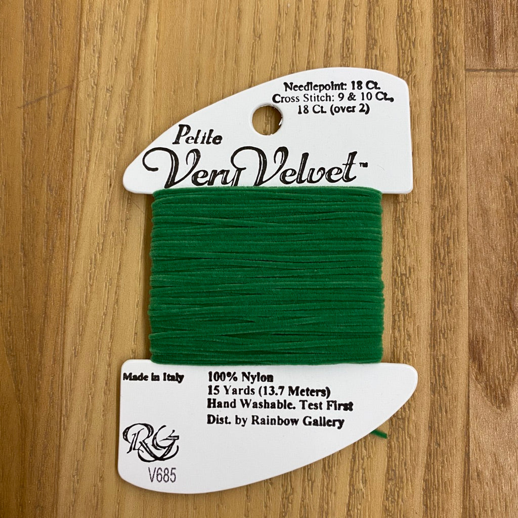 Petite Very Velvet V685 Turf Green - KC Needlepoint