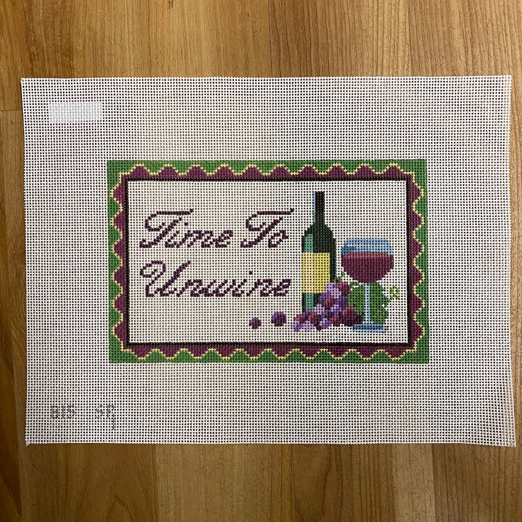 Time to Unwine Canvas-Needlepoint Canvas-KC Needlepoint