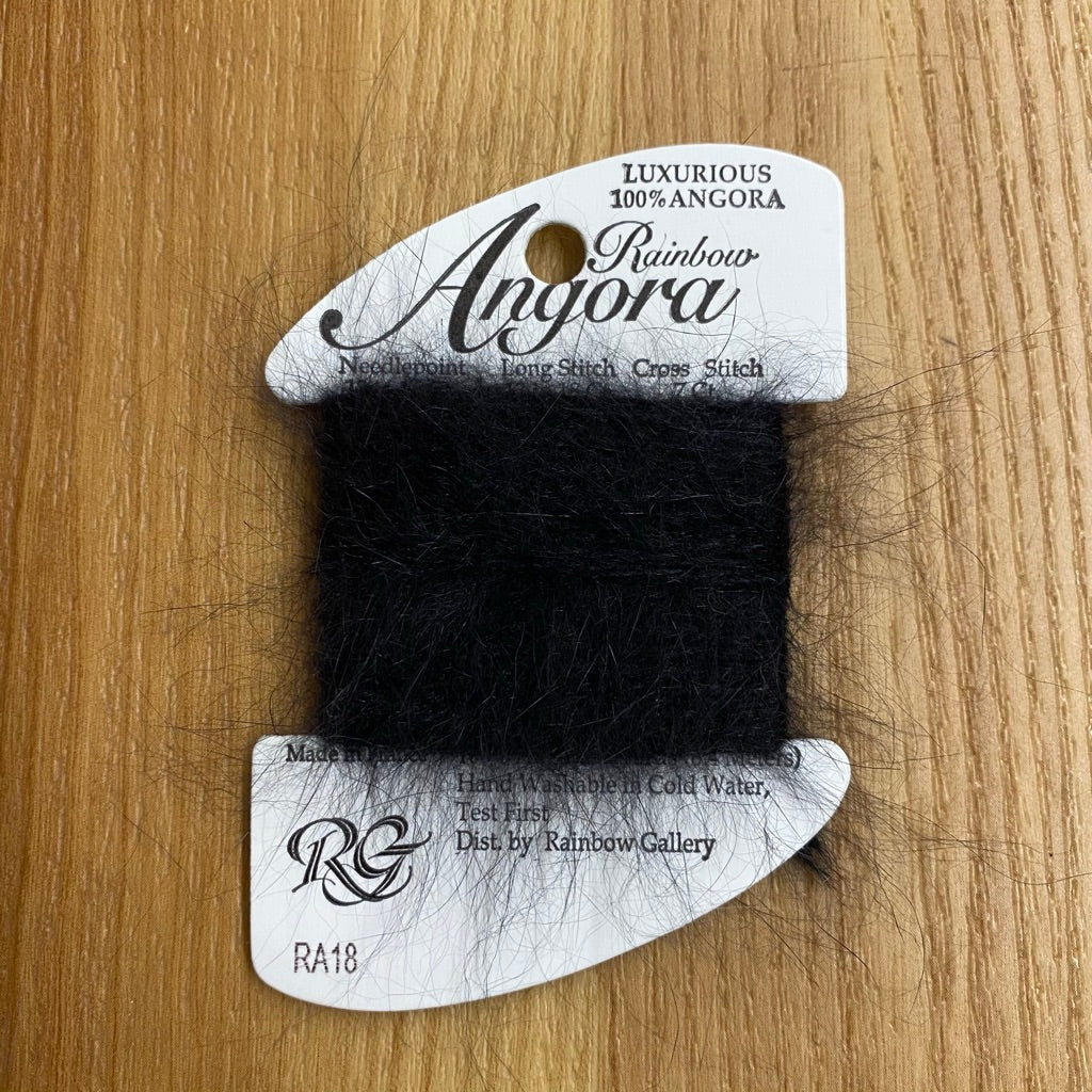 Rainbow Angora RA18 Black - needlepoint