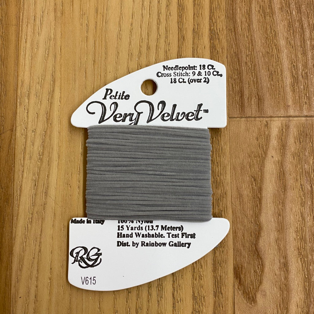 Petite Very Velvet V615 Lite Gray - KC Needlepoint