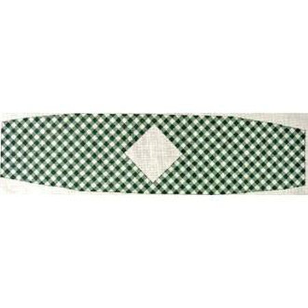 Green Gingham Cummerbund Canvas-Needlepoint Canvas-The Meredith Collection-18 mesh-KC Needlepoint