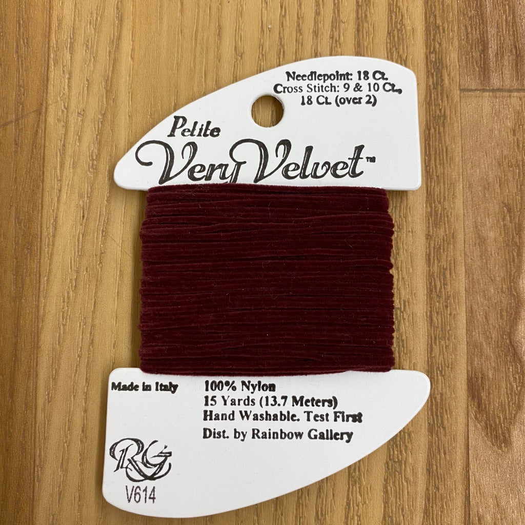 Petite Very Velvet V614 Garnet - KC Needlepoint