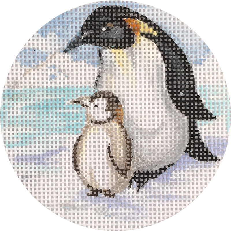 Penguins Ornament Canvas - needlepoint