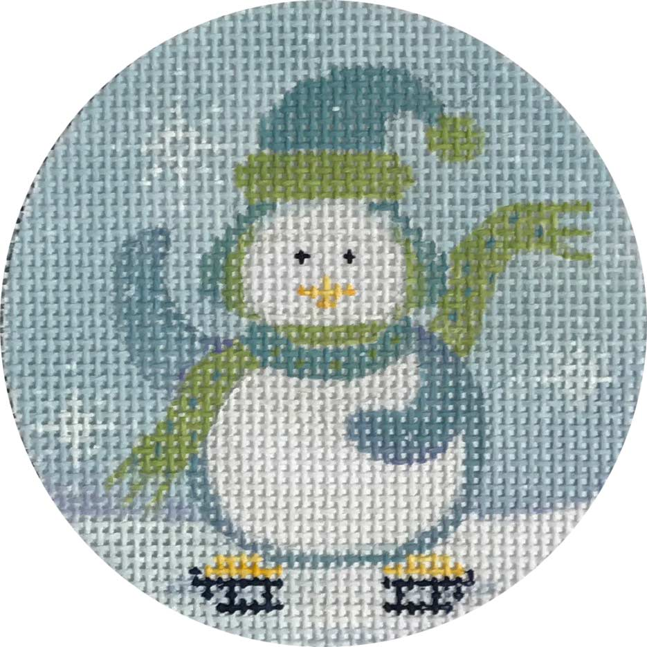 Chilly Penguin Canvas - needlepoint