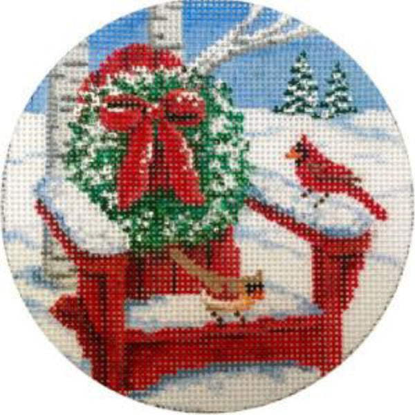 Cardinals on Adirondack Canvas - needlepoint