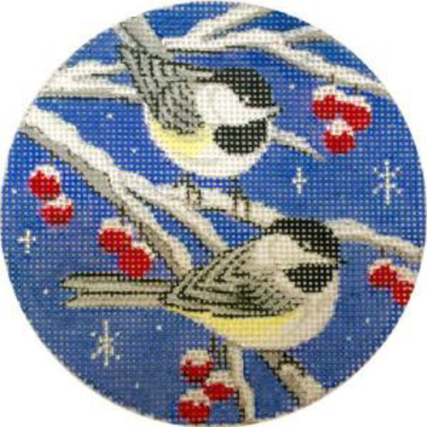 Birds on Blue Sky Canvas - needlepoint