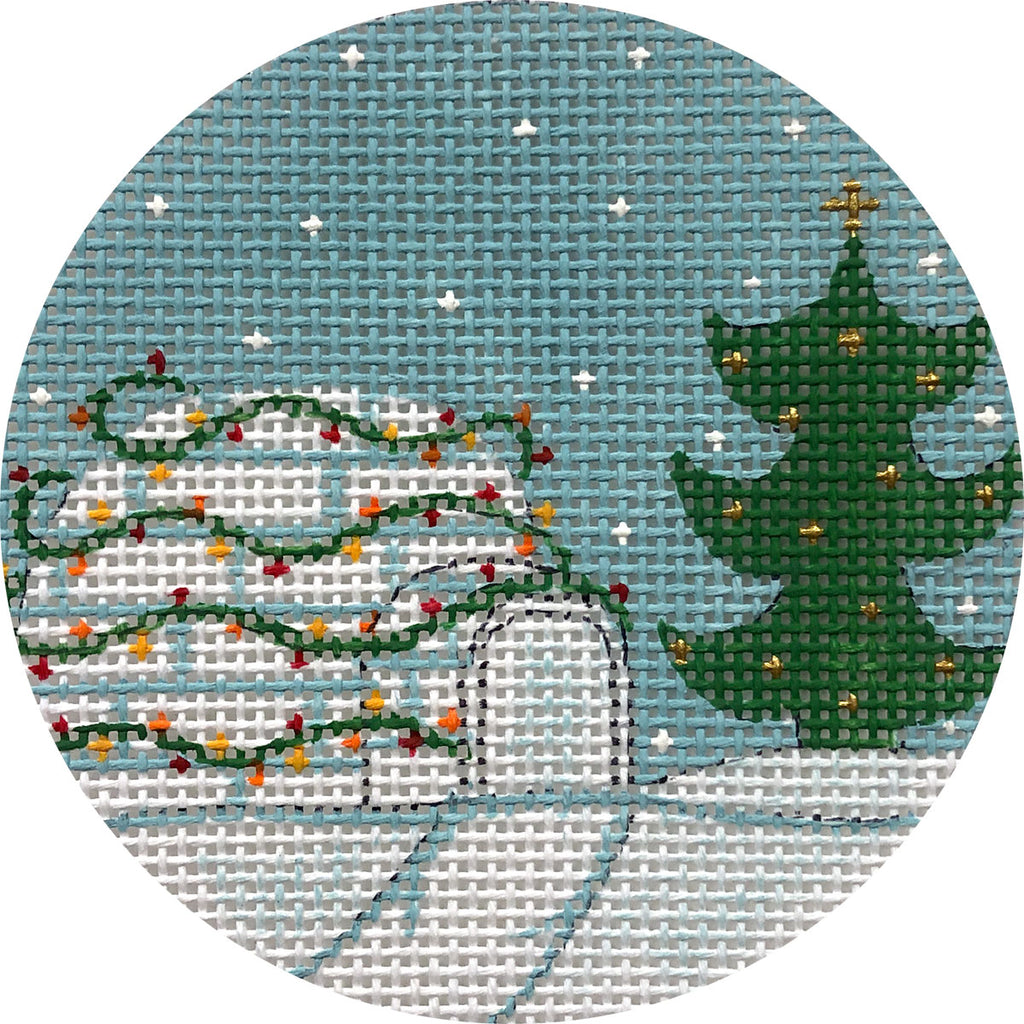 Christmas Igloo Canvas