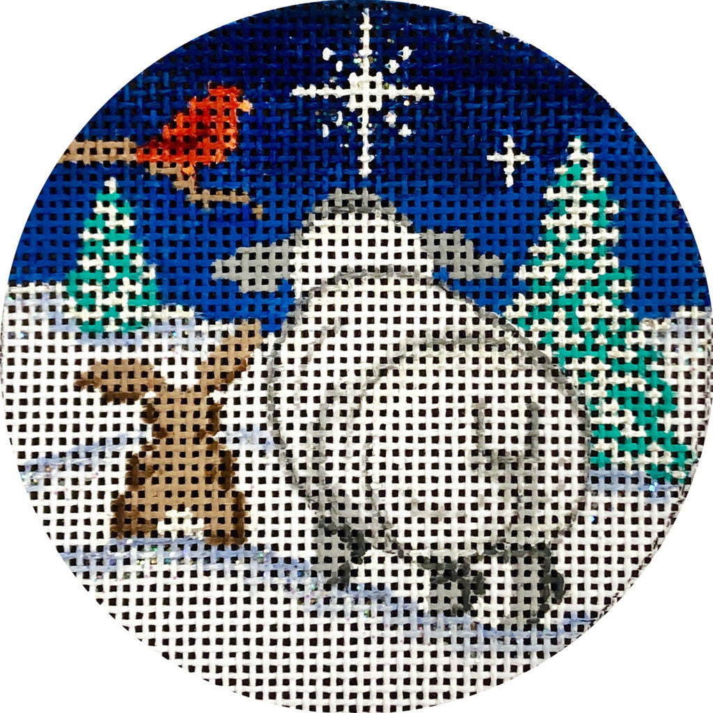 North Star View Canvas - needlepoint