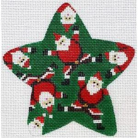 Santamania Canvas - KC Needlepoint