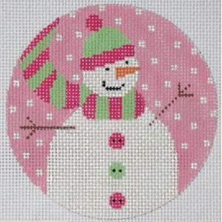 Snow Girl Canvas - needlepoint