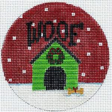 Woof Dog House Canvas - KC Needlepoint