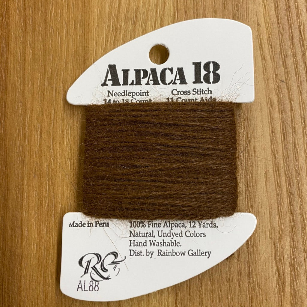 Alpaca 18 AL88 Chestnut - needlepoint