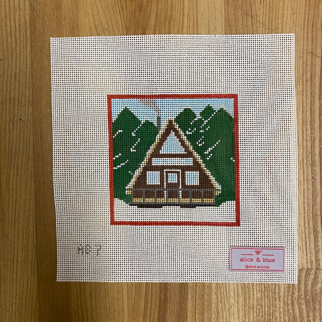 Chalet All Day Canvas-Needlepoint Canvas-KC Needlepoint