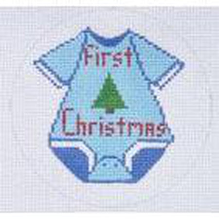 Boy First Christmas Canvas - needlepoint