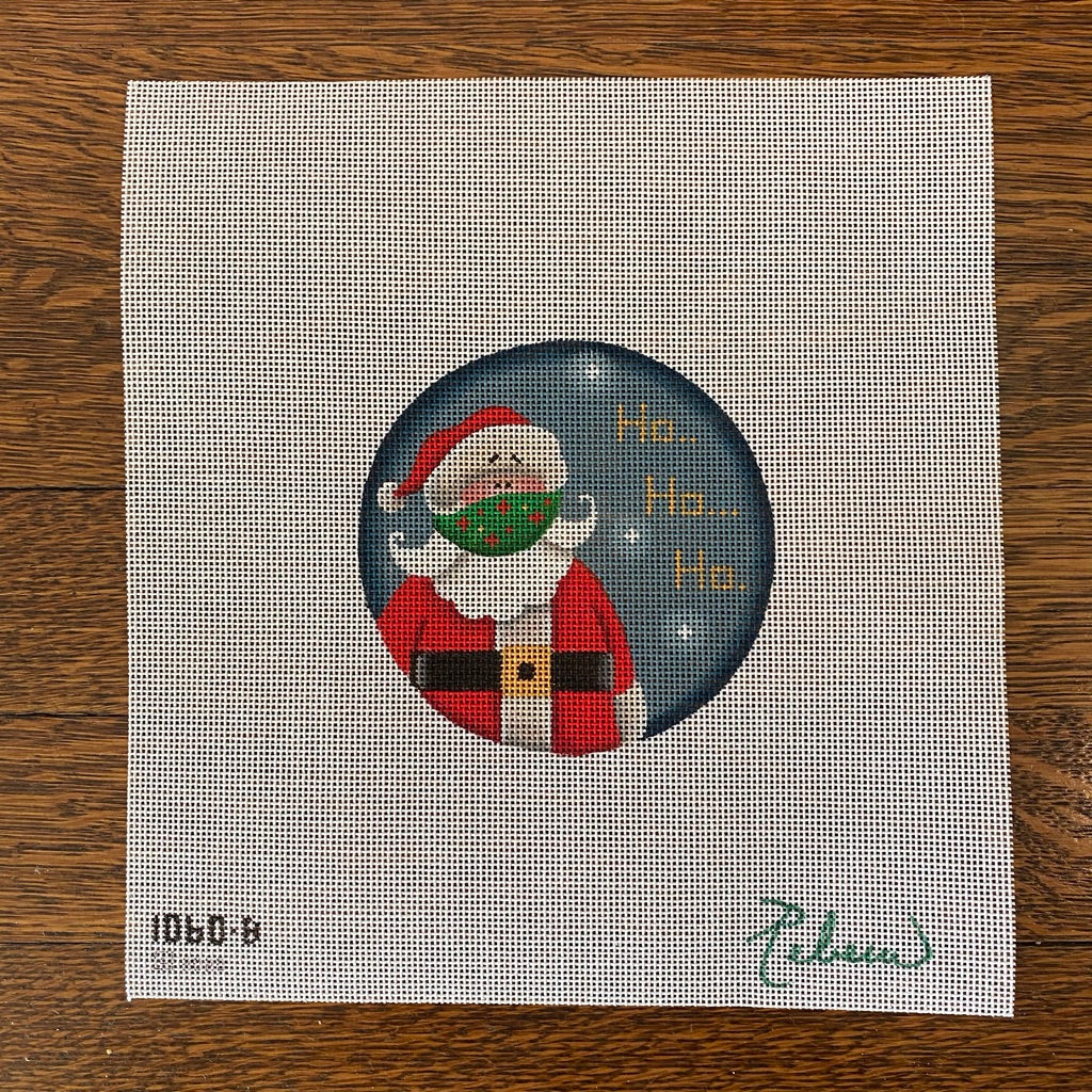 Masked Santa Canvas - needlepoint