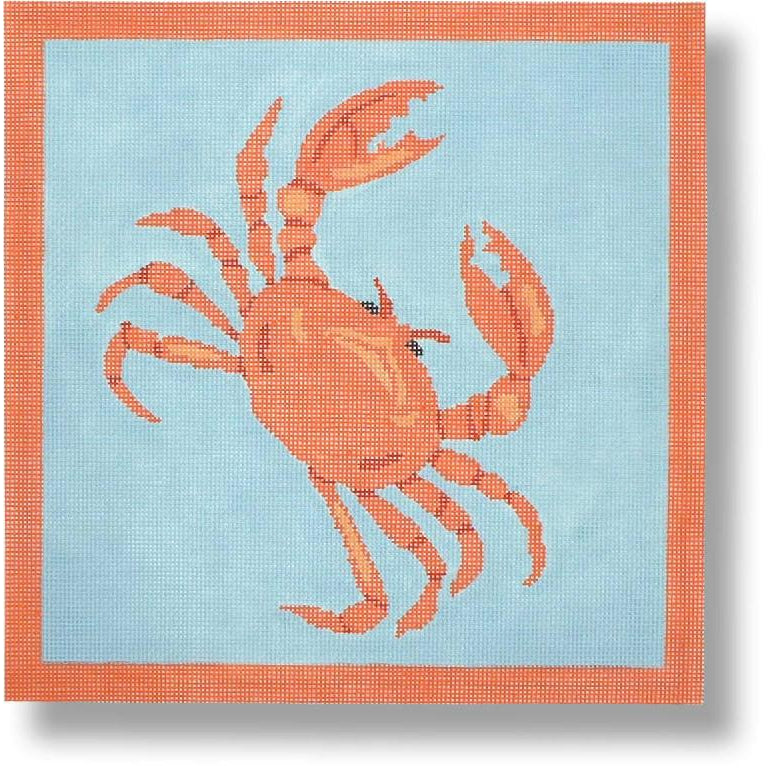 Crab Canvas-Needlepoint Canvas-CBK Needlepoint-13 mesh-KC Needlepoint