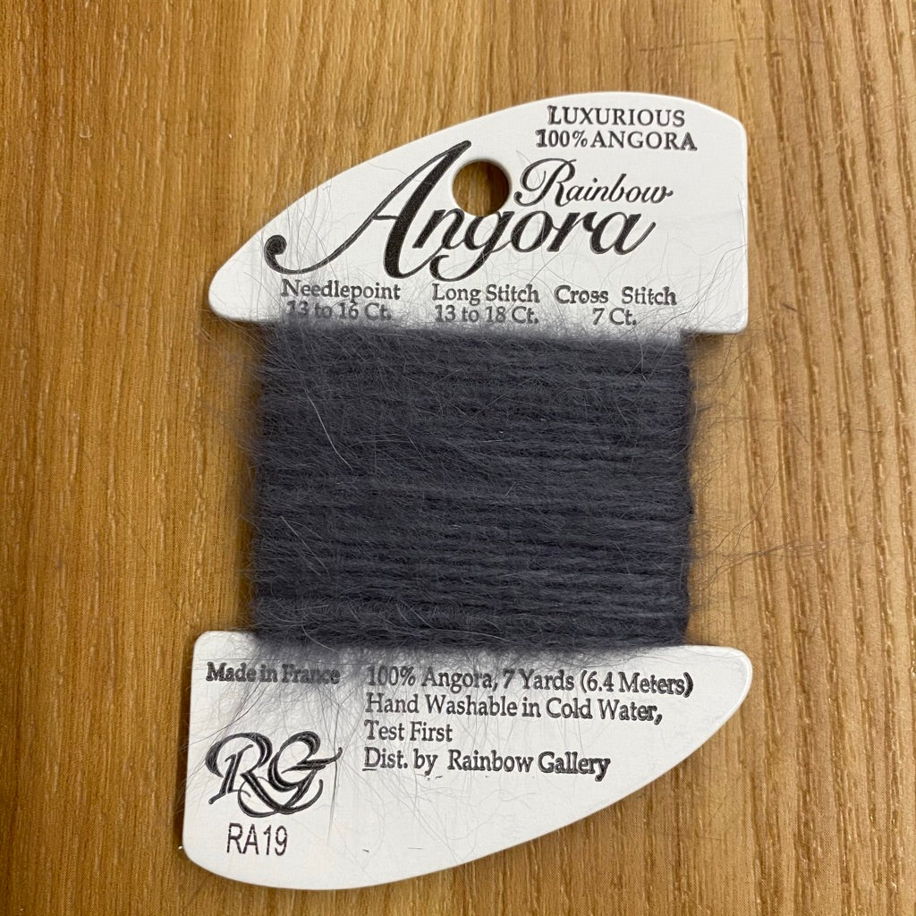 Rainbow Angora RA19 Dark Gray - needlepoint