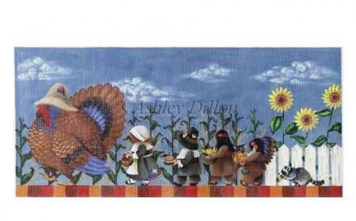 Thanksgiving March Canvas - needlepoint