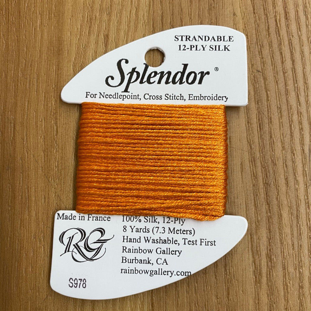 Splendor S978  Bright Pumpkin - KC Needlepoint