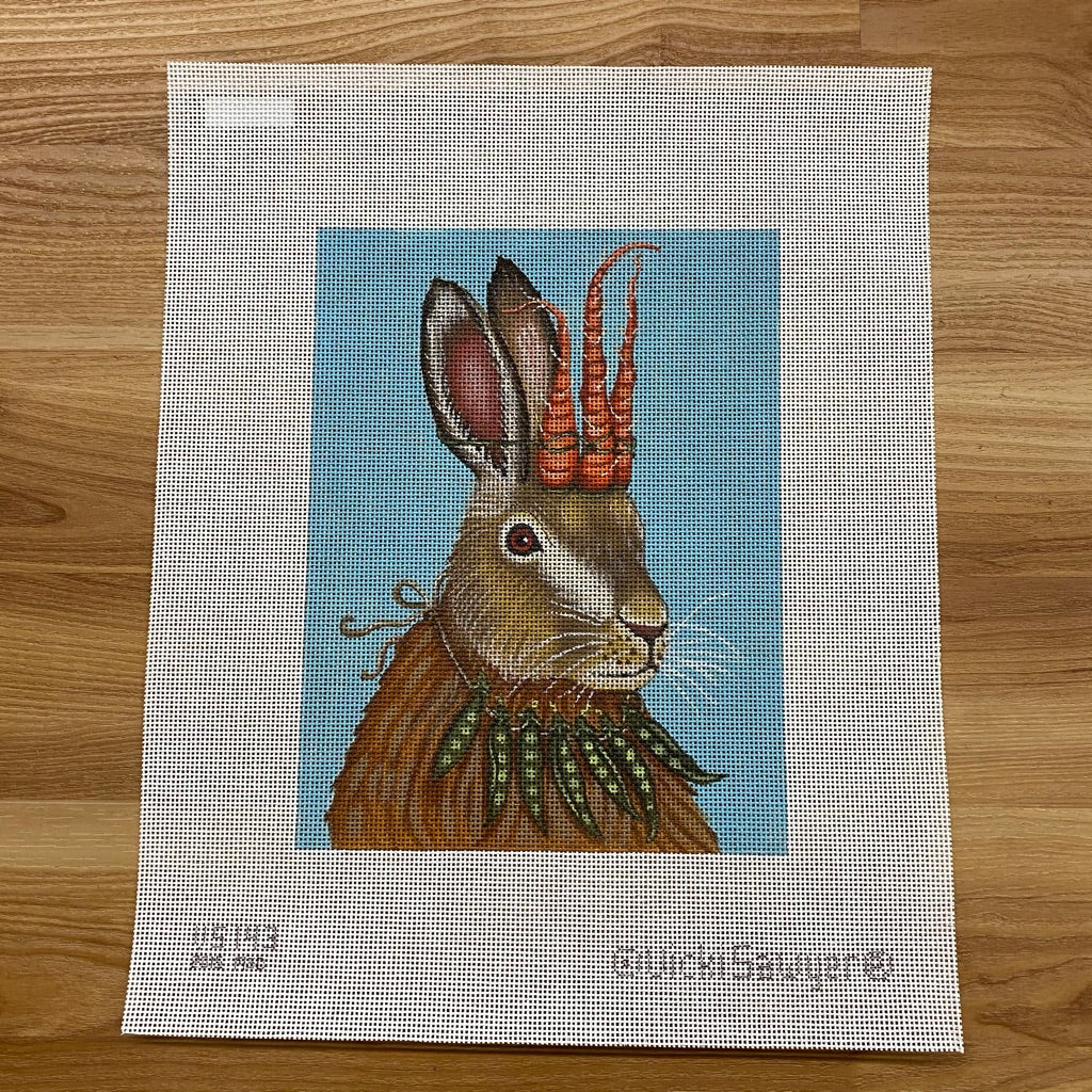 Hare Apparent Needlepoint Canvas - needlepoint
